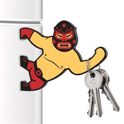 Mustard Lucha Keybre Magnetic Key Holder and Bottle Opener Image