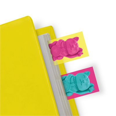 Mustard Lucky Cat Page Markers