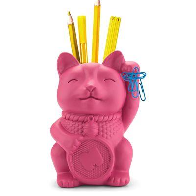 Mustard Lucky Cat Pen Pot