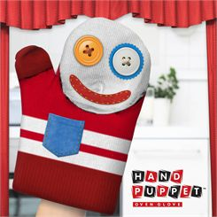 Mustard Mc Gloven Puppet Shaped Oven Glove