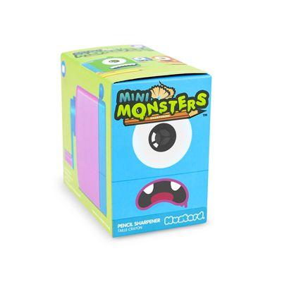 Mustard Mini Monster Pencil Sharpener-Blue-Box