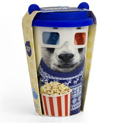 Mustard Panda Coffee Crew Reusable Coffee Cup - Main Image - Panda - Packaging
