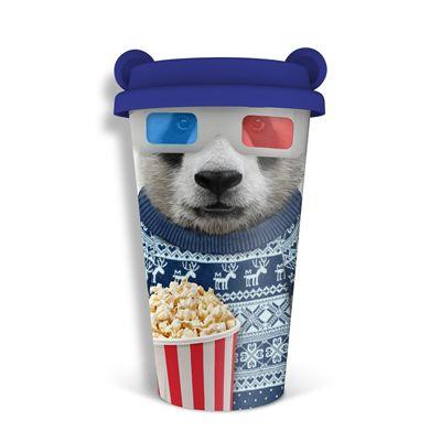 Mustard Panda Coffee Crew Reusable Coffee Cup - Main Image - Panda