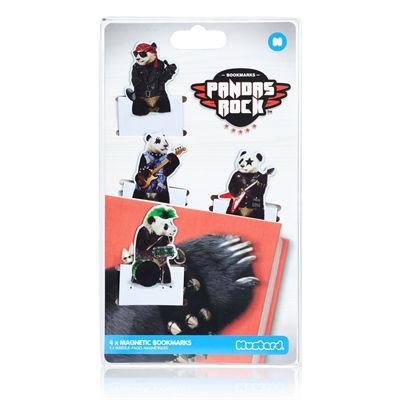 Mustard Pandas Rock Magnetic Bookmarks-Packaging