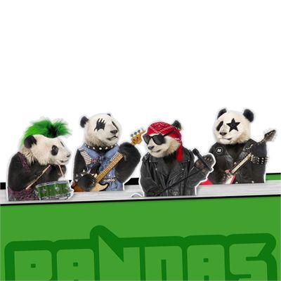 Mustard Pandas Rock Magnetic Bookmarks