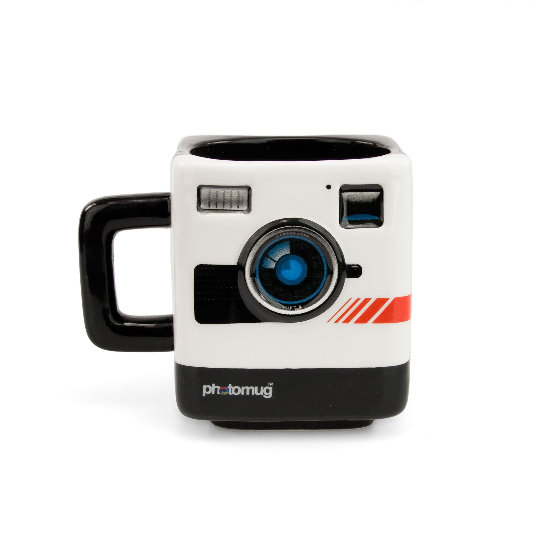 Image of Mustard Photomug Retro Camera Shaped Mug