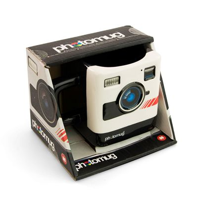 Mustard Photomug Retro Camera Shaped Mug - Packed