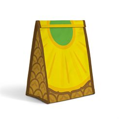 Mustard Pineapple Froot Sandwich Bag