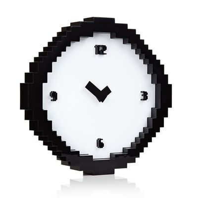 Mustard Pixel Time Pixelated Wall Clock