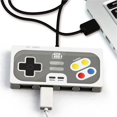 Mustard Playhub Super Hub 4 Ports USB Hub-In Use