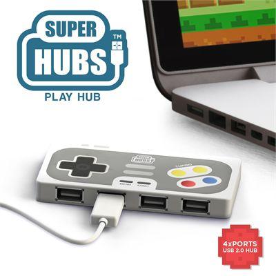 Mustard Playhub Super Hub 4 Ports USB Hub-Main Image