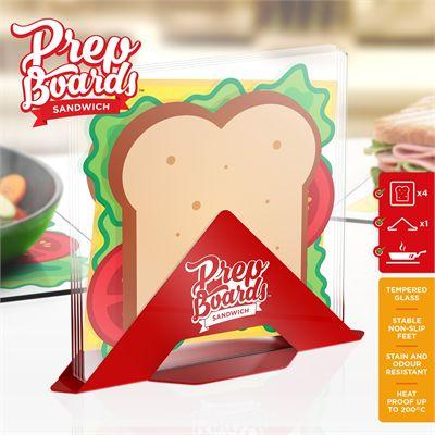 Mustard Prep Boards Sandwich - Set of 4 - Main Image