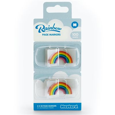 Mustard Rainbow Page Markers - Box