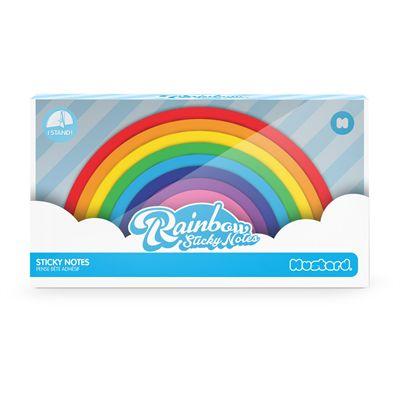 Mustard Rainbow Sticky Notes-Box