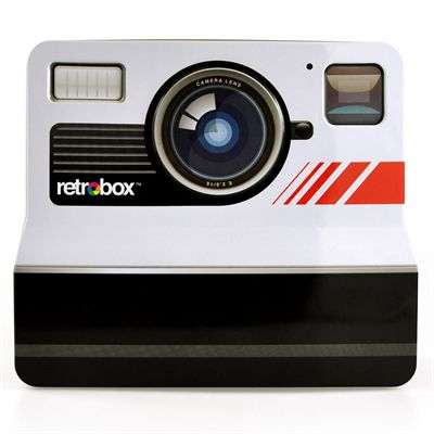 Mustard Retrobox Retro Camera Shaped Food Tin-Front