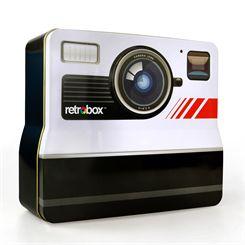 Mustard Retrobox Retro Camera Shaped Food Tin