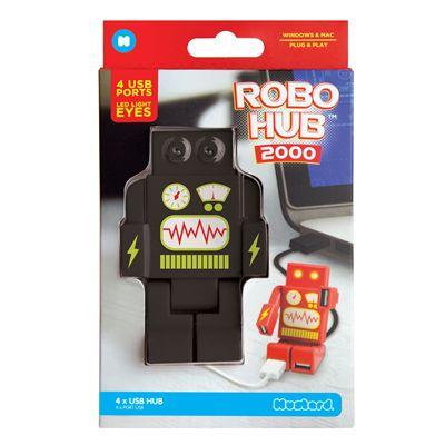 Mustard RoboHub 2000 Four Ports USB Hub-Black-Packaging