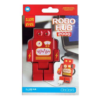 Mustard RoboHub 2000 Four Ports USB Hub-Red-Packaging
