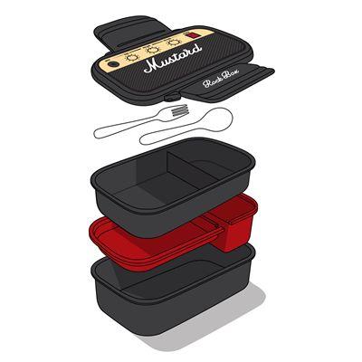 Mustard Rockbox Guitar Amplifier Shaped Bento Box-All in one