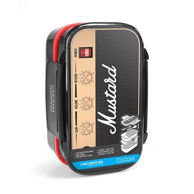 Mustard Rockbox Guitar Amplifier Shaped Bento Box Image