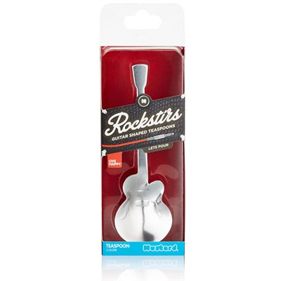 Mustard Rockstirs Lets Pour Guitar Shaped Tea Spoon - Packaging