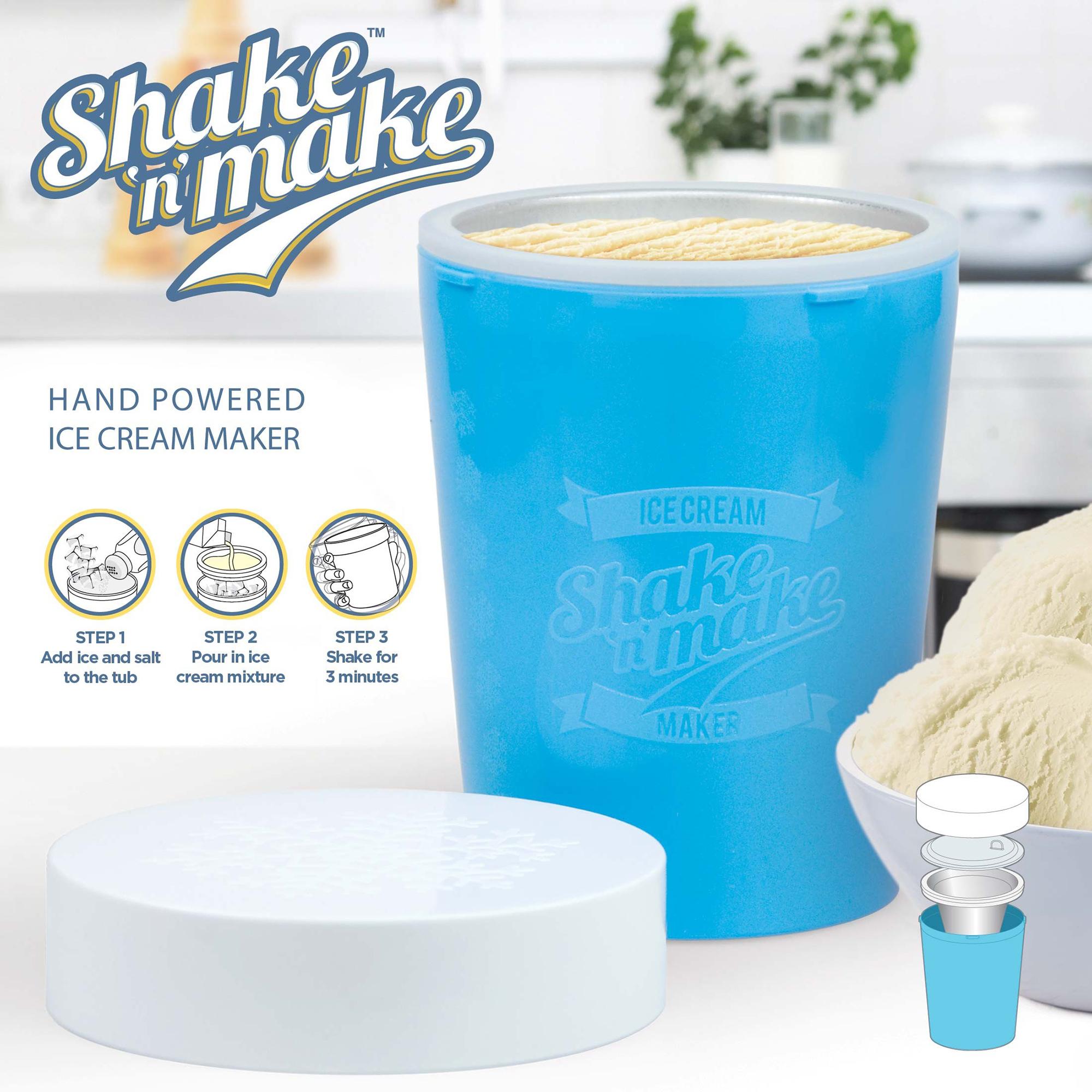 Mustard Shake n Make Hand Powered Ice Cream Maker