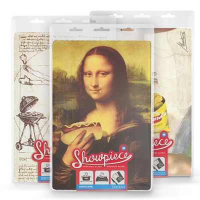 Mustard Showpiece Hungry Lisa Tempered Glass Chopping Board - Packaging