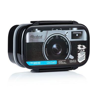 Mustard Shutterbox Camera Shaped Bento Box-front