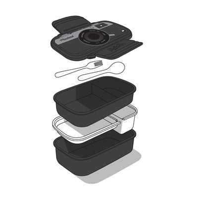 Mustard Shutterbox Camera Shaped Bento Box-Parts