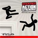 Mustard Stickmen Action Stickers - Main Image
