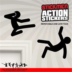 Mustard Stickmen Action Stickers