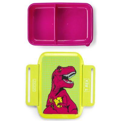 Mustard T-Rex Lunch Box - Open