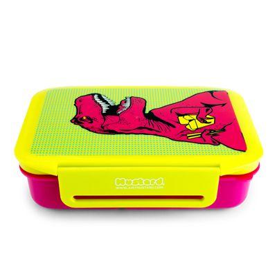 Mustard T-Rex Lunch Box - Side