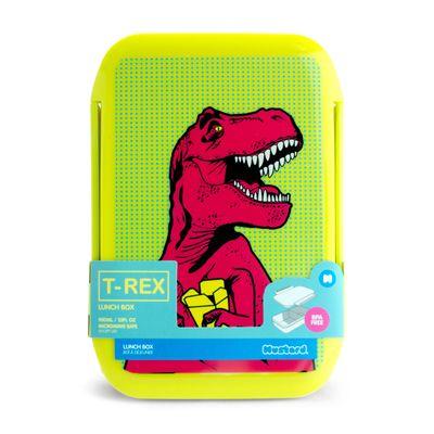 Mustard T-Rex Lunch Box