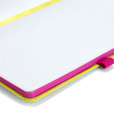 Mustard T-Rex Notebook - Opened