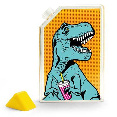 Mustard T-Rex Water Bottle