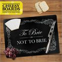 Mustard To Brie or Not to Brie Tempered Glass Cheesy Board