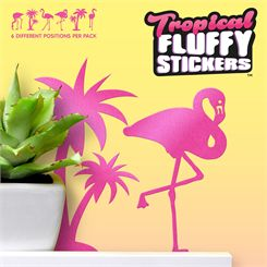 Mustard Tropical Fluffy Stickers