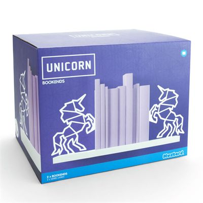 Mustard Unicorn Bookends - Box