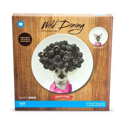 Mustard Wild Dining Deer Ceramic Small Size Dinner Plate - Image 1