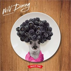 Mustard Wild Dining Deer Ceramic Small Size Dinner Plate