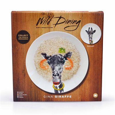 Mustard Wild Dining Giraffe Ceramic Dinner Plate - Image 1