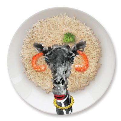 Mustard Wild Dining Giraffe Ceramic Dinner Plate - Image 2