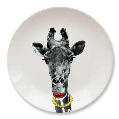 Mustard Wild Dining Giraffe Ceramic Dinner Plate - Image 3