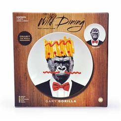 Mustard Wild Dining Gorilla Ceramic Dinner Plate