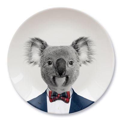 Mustard Wild Dining Koala Ceramic Dinner Plate-Image
