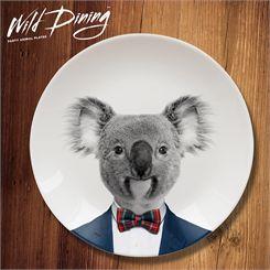 Mustard Wild Dining Koala Ceramic Dinner Plate