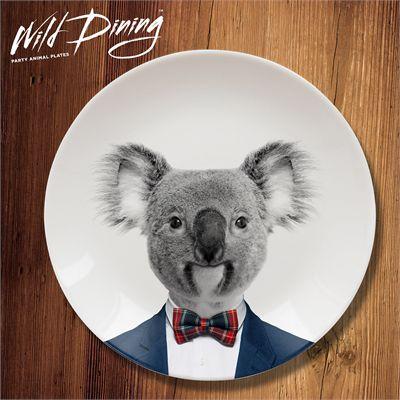 Mustard Wild Dining Koala Ceramic Dinner Plate-Main Image