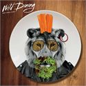 Mustard Wild Dining Lion Ceramic Dinner Plate - Image 1