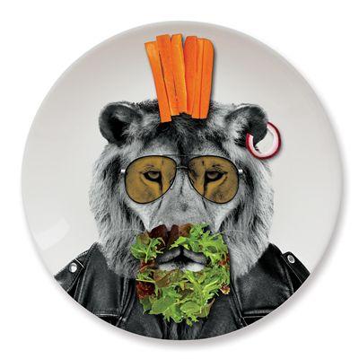 Mustard Wild Dining Lion Ceramic Dinner Plate - Image 3
